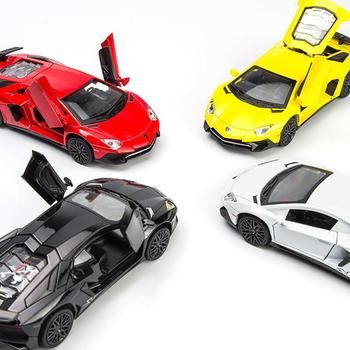 1:32 Alloy Cars Models LP750 Diecast Model Vehicles Car Sound Light Pull Back Car Toy Miniature Scale Model Cars Toys 1 32 scale car model x90 tesla alloy 1 32 diecast model car w sound