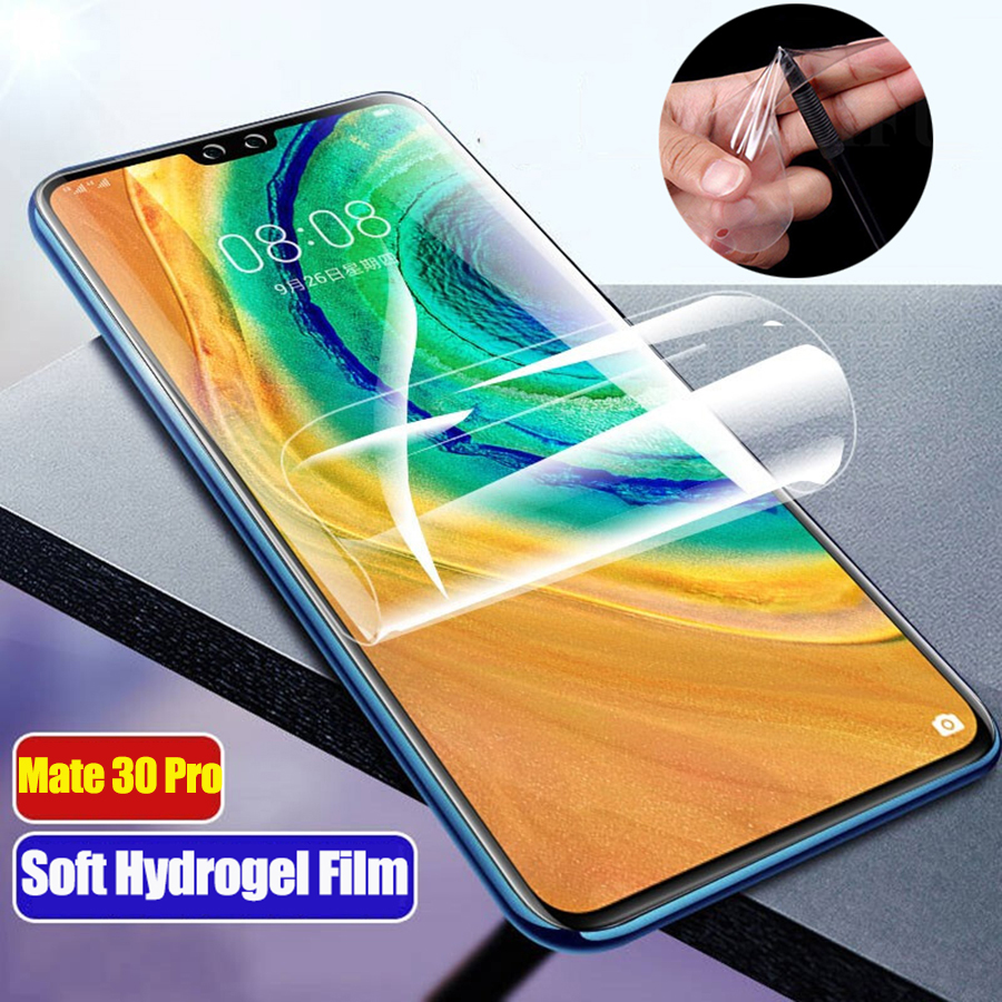 20D Front Back Soft TPU Full Premium Screen Protector For Huawei P30 P20 Mate 30 P30 Pro Honor View 20 8X 9X Clear Hydrogel Film