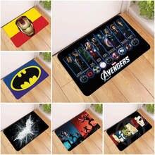 Disney мягкие удобные коврики, Нескользящие коврики, Супермен, Бэтмен, Человек-паук, Железный человек, Мультяшные ковры, ванная комната, кухонн...