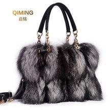 Женская сумка на плечо с натуральным лисьим мехом, сумки, Брендовые вечерние сумки, женские сумки, роскошные дизайнерские вечерние сумки, меховая кожа