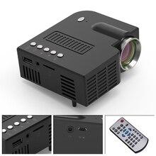 يونيك 28 جهاز عرض صغير محمول 1080p كامل HD LED العارض المسرح المنزلي الترفيه أجهزة العرض USB AV TF