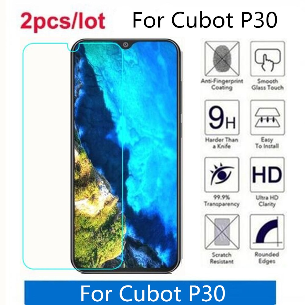 Tempered Glass For Cubot P30 2.5D Premium Screen Protector Film On For Cubot P30 Protective Film Glass(China)