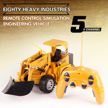 New Design RC Engineering Vehicle Car 2.4Ghz 5 Channel 1:24 RC Excavator Toy Plastic RTR For Kids Christmas Gift Excavator Truck rc alloy 1 24 excavator real remote control car engineering vehicle model toy five channel excavator for children toy