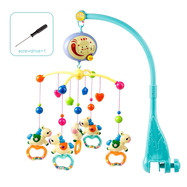 Baby Toys 0-12 Months Bed Bell Rotating Music Box Hanging Baby Rattle Bracket Crib Mobile Holder Toys For Babies 13-24 MonthsBaby & Toddler Toys