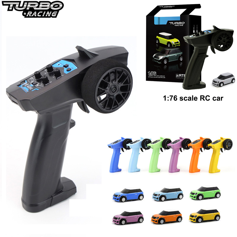 Turbo Racing 1:76 RC Car Mini Full Proportional Wholesale Electric Race RTR Car Kit 2.4GHZ Racing Experience Car New Patent  Car