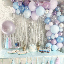 Eis Prinzessin Party Dekoration Weihnachten Schneeflocke Folie Luftballons Luft Ball Geburtstag Ballon Decor Hochzeit Winter DIY Party(China)