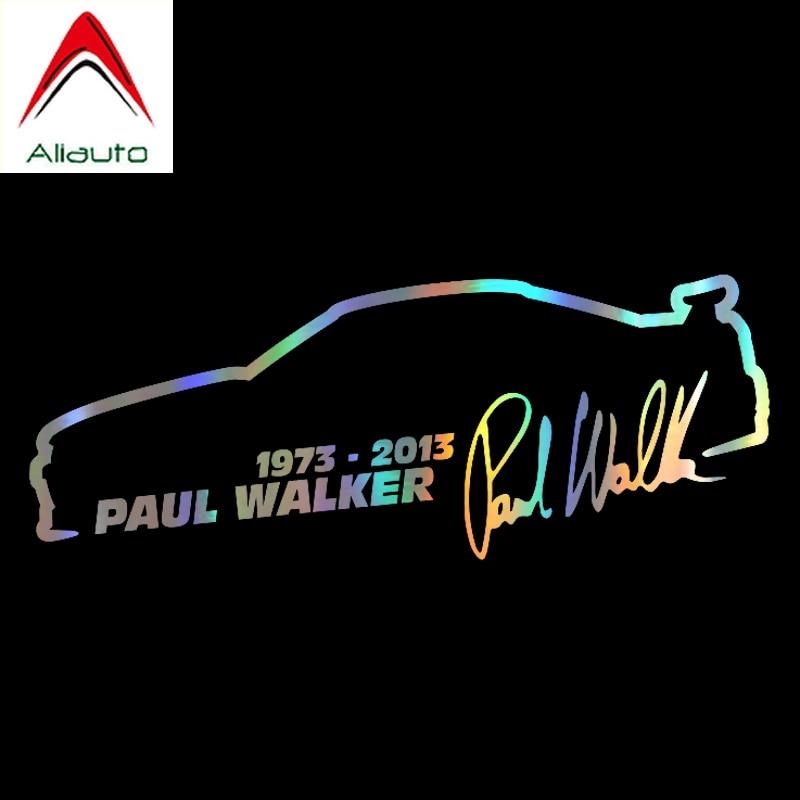 Aliauto модная наклейка на автомобиль Пол Уокер Форсаж Декор водонепроницаемый виниловая наклейка для Chevrolet Audi A3 Toyota JDM, 13 см * 5 см