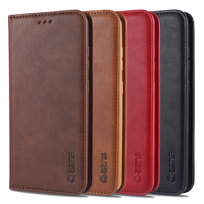 Cover Genuine Leather Flip For <font><b>Samsung</b></font> S20 Ultra Case Magnetic Case For <font><b>Samsung</b></font> S8 9 10 S20 Plus A50 A51 71 A8 2018 Note 9 Case image