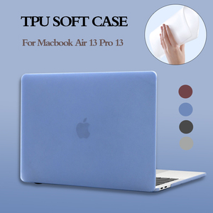 TPU Soft Laptop Case For MacBook Air 13 Case 2020 New A2179 A1932 Touch ID Pro 13 A2289 A2159 A1706 Pro 16 inch A2141 2019 Cover