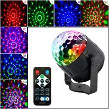 Aktywowana dźwiękiem obrotowa kula dyskotekowa impreza z dj-em światła 3LED RGB projektor laserowy LED Christmas Party Show lampa efektowa z kontrolą