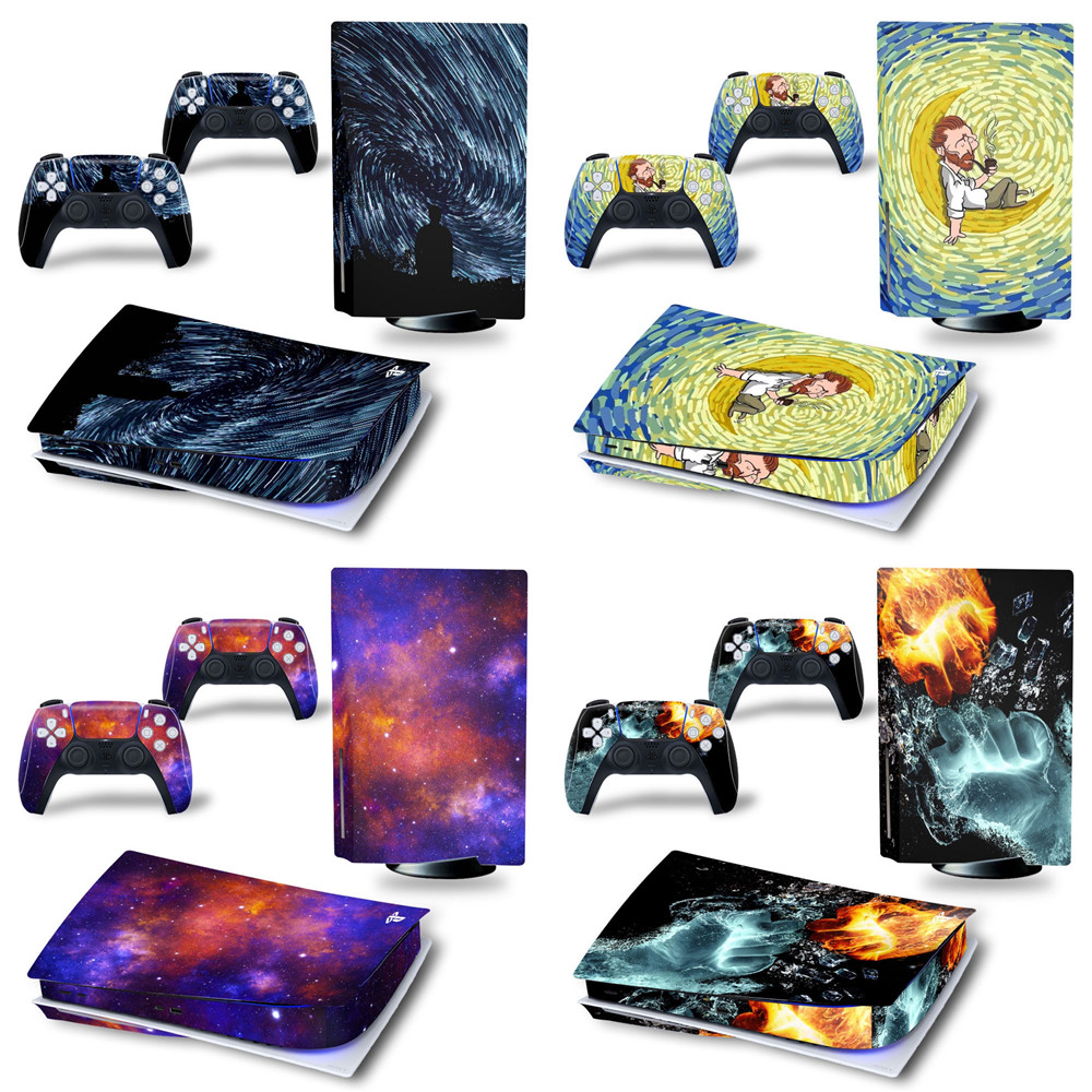Custom Design PS5 Disk Skin Sticker Cover for PlayStation 5 Console and Controllers PS5 Disk Skin Sticker Decal Vinyl Version 1