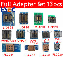 13 шт. SSOP28 TSSOP28 SOP28 SOP20 SOP16 SOP8 К dip8 150mil 200mil tssop20 ssop20 PLCC44 32 28 20 гнездо программист адаптер