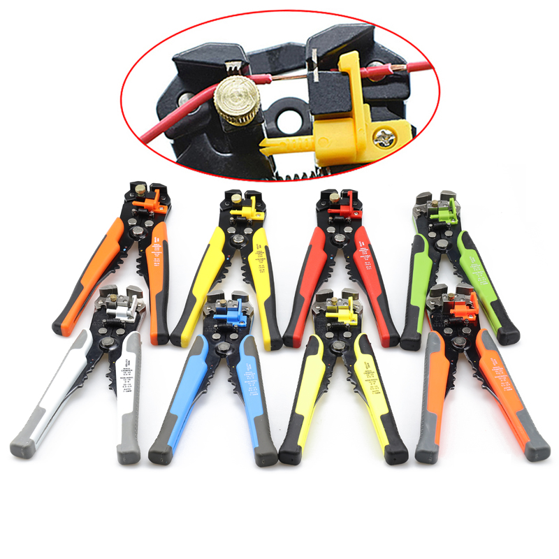 Pliers Automatic Stripper Cable Wire Cutter Crimping Tools High Precision Electrical Hand Tools Stripping 0.25-6mm2/0.6-2.6mm2