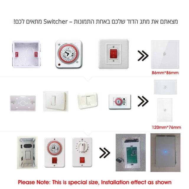 Interrupteur chauffe-eau intelligent Wifi | Interrupteur intelligent, télécommande vocale, panneau tactile américain, fonctionne en extérieur, alexa google home