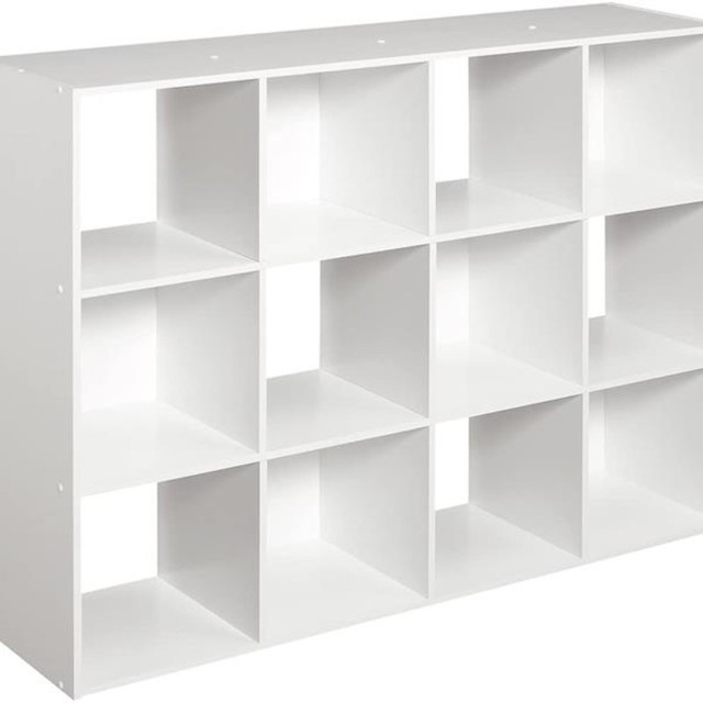 12 Cubes Wooden Bookcase Organizer 3
