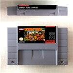 Donkey Kong Country 1 2 3 o cartucho de competición tarjeta de juego RPG, versión estadounidense, ahorro de batería en idioma inglés