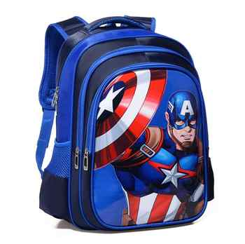 Spiderman Captain America Boy Girl Baby Children Kindergarten Nursery School bag Bagpack Schoolbags Kids Student Backpacks