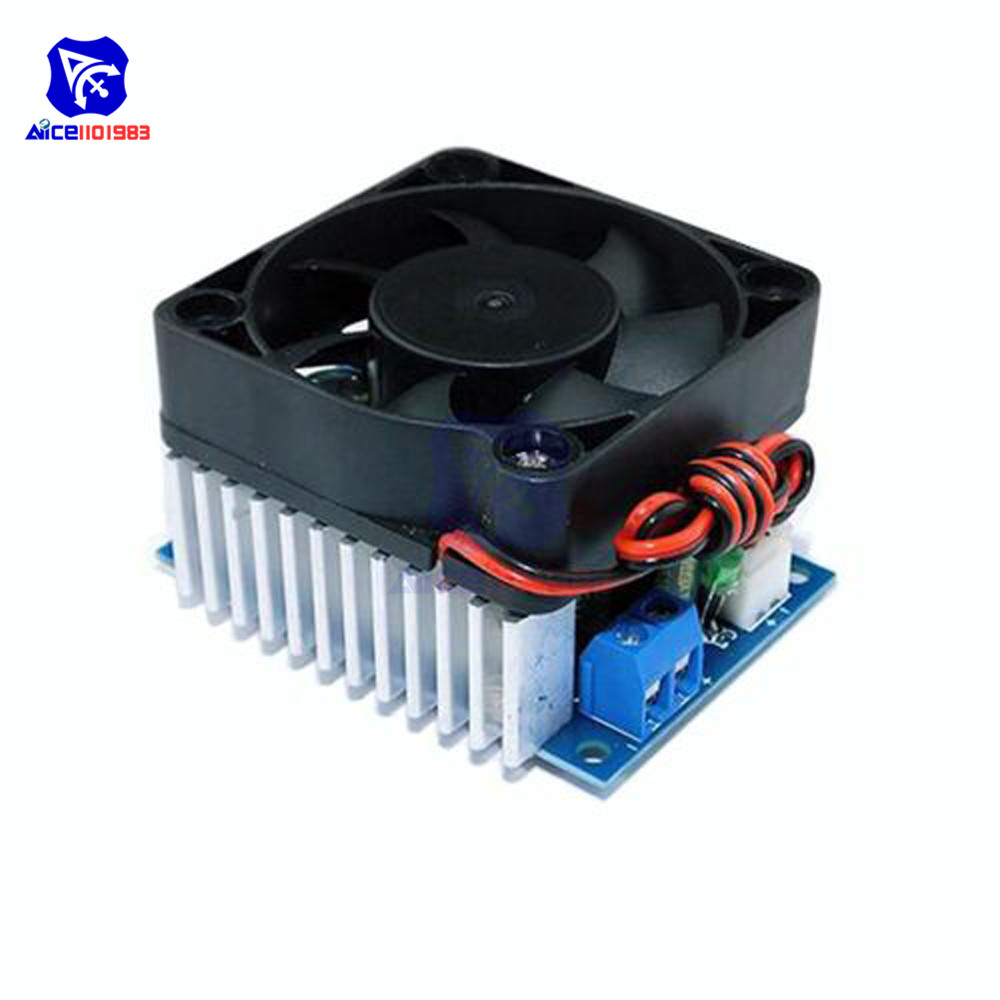 Diymore DC-DC DC 5 -40V To 1.2 -36V 12A Max Step Down Buck Converter Power Supply Module With Fan Voltage Regulator For Car