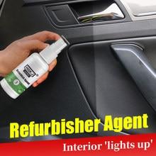 Hgkj refurbish agente interior couro manutenção cleaner auto interior plástico revestimento renovado