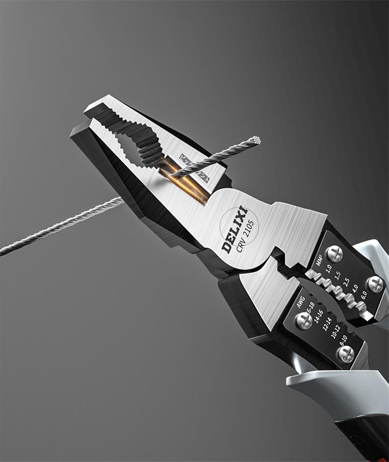 Alicates diagonales multifuncionales cortadores de alambre universales para electricista