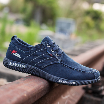 Men shoes 2021 spring men canvas shoes flat casual shoes lace up comfortable breathable shoes man flats size 39-44 6