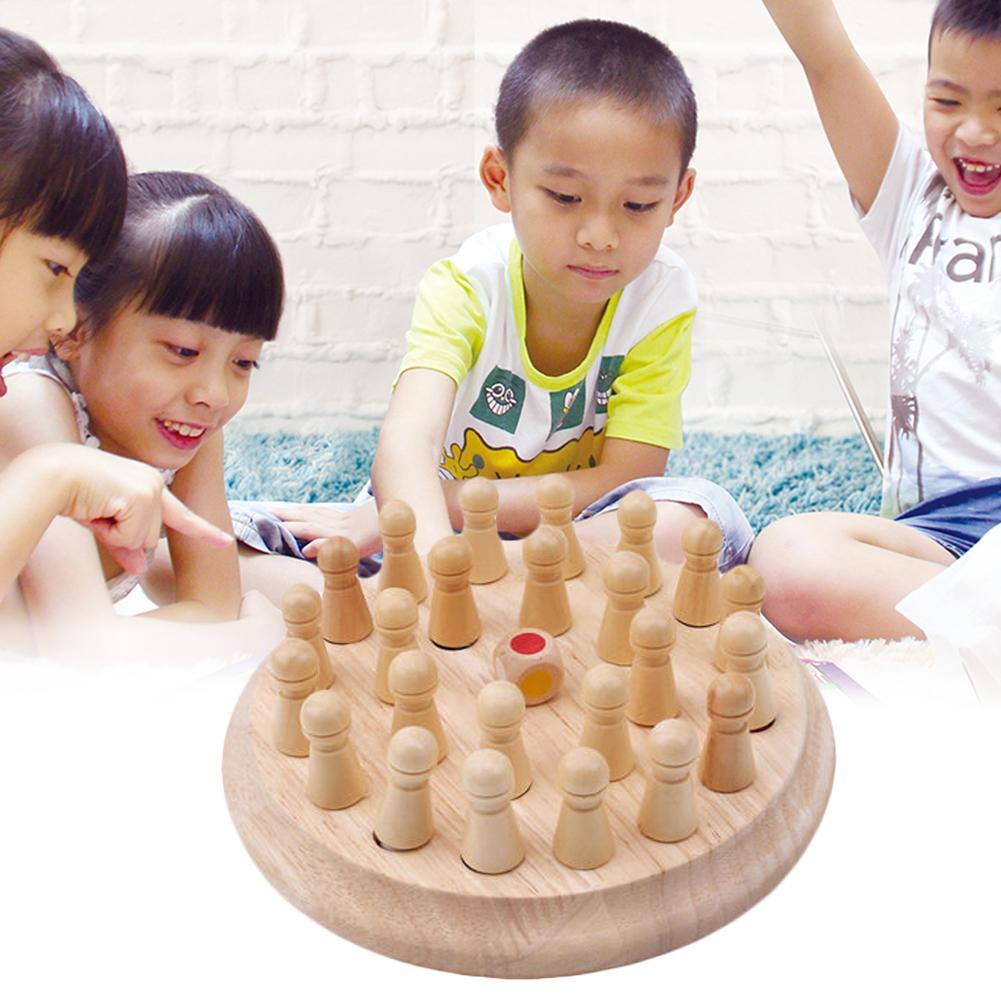 Enfant éducatif en bois mémoire Match bâton jeu d'échecs bébé jouet d'apprentissage jouet éducatif début de l'apprentissage éducatif