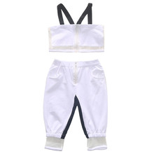 1-5Y girls summer outfits tulle appliques white crop top+long pants baby girl tracksuit sets vetement enfant