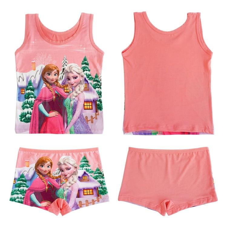 Shorts and Sleeveless Top Frozen Sleepwear Set for Girls