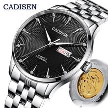 CADISEN Automatic Mechanical Watch Men Top Luxury Brand MIYOTA 8205 Luminous Bus