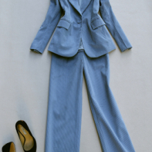 Fashion pants suit female spring New high quality corduroy retro Leisure busines