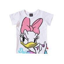 T-Shirt Disney Donald Summer New Duck Streetwear Fitness Anime Mickey Boy Short-Sleeved
