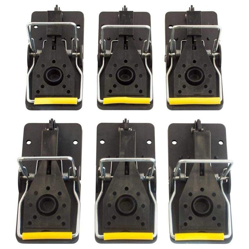Mouse Trap  Reusable and Easy To Use Snap Traps  Pack of 6|Traps| |  - title=