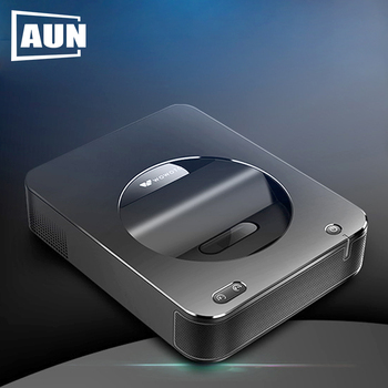 AUN 2020 New 3600 Lumens Android 6.0 720P Projector S6A Pro (2G RAM+16G ROM)  Portable Home Cinema Support 1080P Video Beamer
