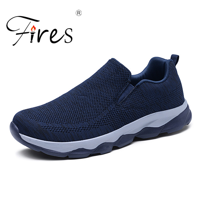 2019 Outdoor For Adult Men Road Running Jogging Walking Sports Shoes High-quality Lace-up  Breathable Mesh Male Sneakers