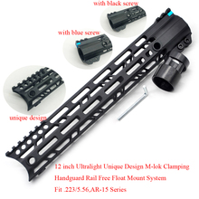 Aplus 12'' inch M-lok Clamping Style Handguard Rail Free Float Mount System Aluminum Ultralight Slim Design Fit .223