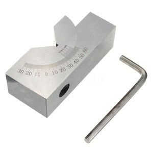 75x25x32mm precisión Mini ángulo ajustable V Bloque de fresado 0 grados a 60 grados