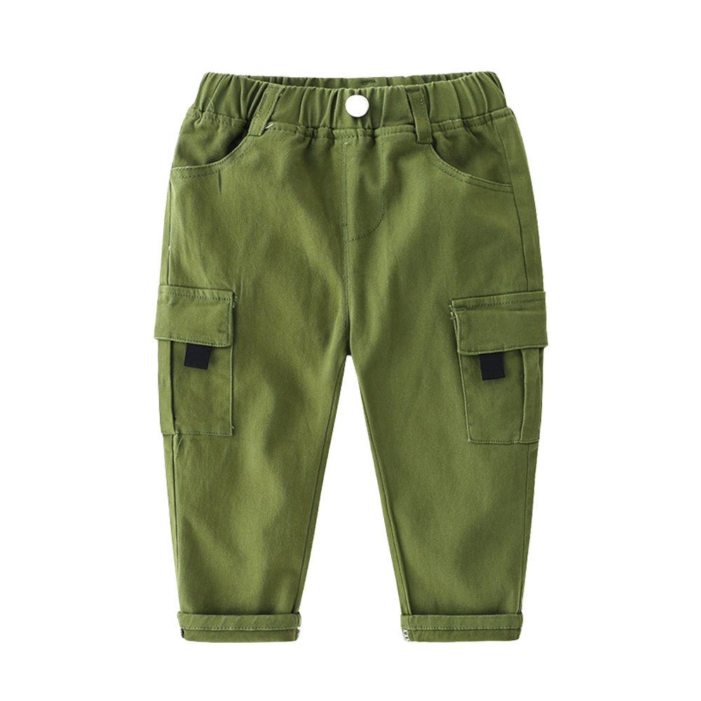 Mudkingdom Boys Cargo Pants Chino Solid Causal Cotton Trousers for Kids 3