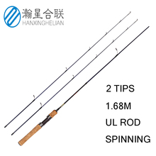 1.68m 2 tips UL Spinning Fishing Rod cheap Carbon 2-6g lure ultralight rod 3-7LB line Fast Action for light Jigging Fishing fish king 2 top tip 0 5 6 2 8g carbon fishing rod spinning ultralight ul l power fast lure rod fuji guide fishing travel rods
