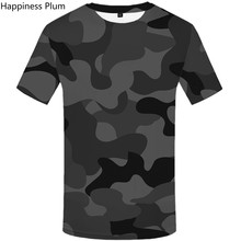 Men 3d Tshirt Black Camo T-shirt Camouflage Anime Fitness Clothes Military tops tee Fashion Casual Print Gothic T-shirts
