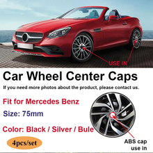 Car-Wheel-Center-Cap CLC W204 75mm Mercedes-Benz Auto-Logo-Hub-Caps 4pcs for CLA CLS