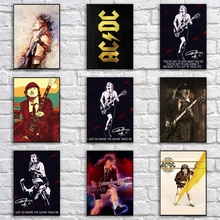 Popular AC/DC Poster Retro Whitepaper Rock Band Poster Art Painting Funny Fancy Wall