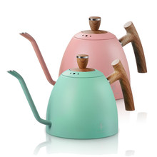 1.5L Coffee Kettle Water Tea Pot Pour Over Coffee Kettle Drip Kettle Gooseneck Stainless Stell with Wooden Handle