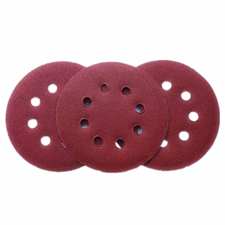 125 Size Napper 5-Inch 8-Hole Bei Rong Disc Sandpaper Qi Mo Flocking Sandpaper Pieces Self-Adhesive Sandpaper Cross Border