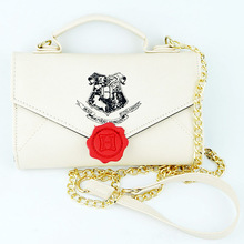 Cute Beige School Stamp Letter Wallet Gril Fashion Student PU Handbag Women Bags Shoulder Bags Purse Wallets for Cosplay Gift
