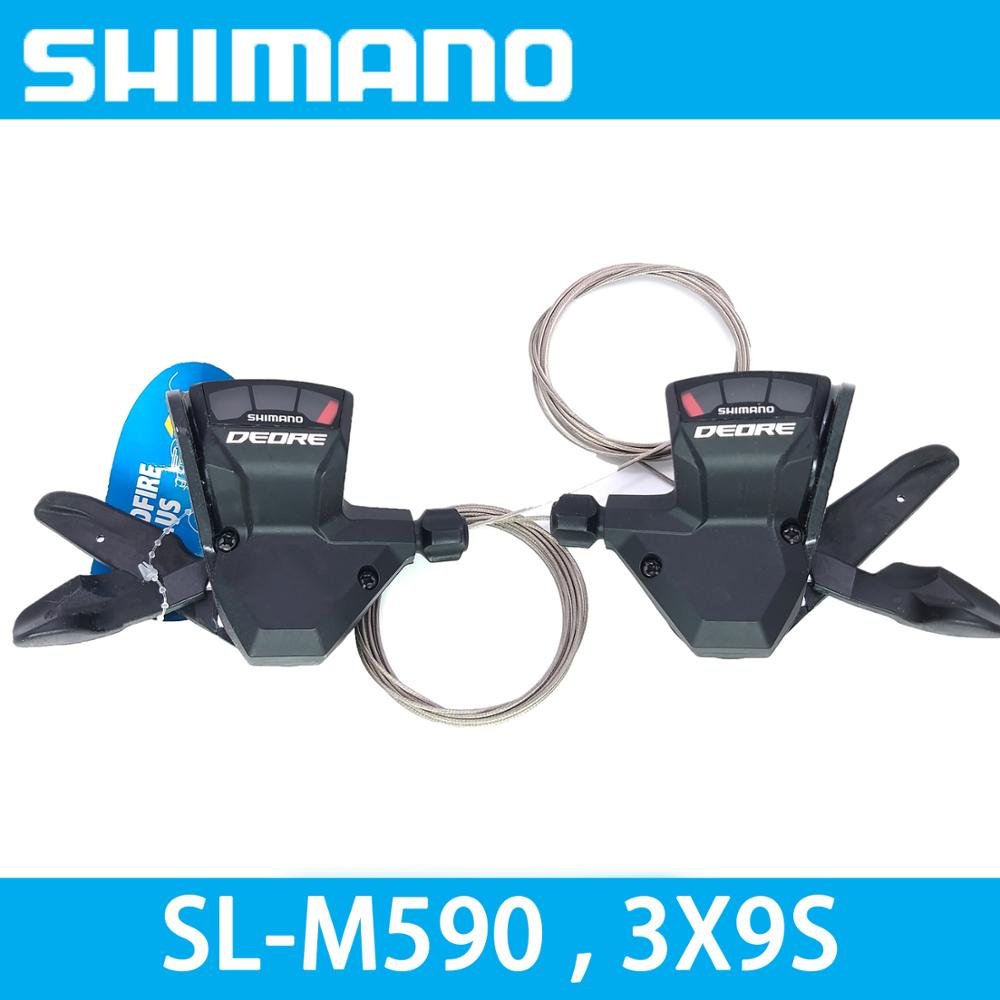 SHIMANO DEORE SL M590 3x9S 27S Speed bike Shifter Lever Trigger MTB bicycle