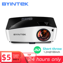 BYINTEK K5 Ngắn Ném 4000ANSI Full HD 1080P Video DLP 3D Trên Đầu Máy Chiếu Beamer Cho Ánh Sáng Ban Ngày Lớp Học Giáo Dục văn Phòng