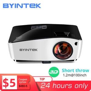 Image 1 - BYINTEK K5 Ngắn Ném 4000ANSI Full HD 1080P Video DLP 3D Trên Đầu Máy Chiếu Beamer Cho Ánh Sáng Ban Ngày Lớp Học Giáo Dục văn Phòng