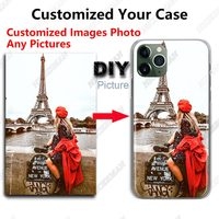Custom Your Own Phone Case For iPhone 6 7 8 Plus X XS 11 Pro MAX XR SE 2020 Cover Customized Picture Name Photo DIY Cases