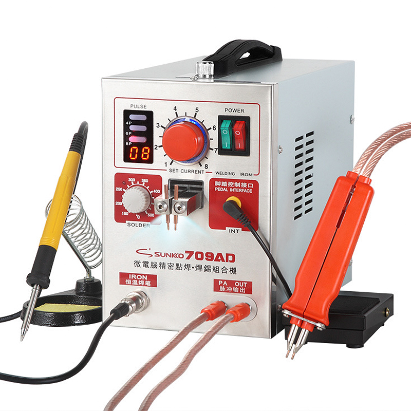 SUNKKO 709AD Spot Welder 2 2KW High Power For 18650 Lithium Battery Weld Handheld Pen Digital Display Pulse Spot Welding Machine