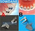 10ps/pack Dental Bite Turbos Orthodontic Tongue Tamer Habbit Correction Button Orthodontic Lingual Button Bondable Bracket